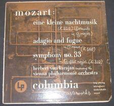 KARAJAN - Mozart  Eine Kleine Nachtmusic Columbia ML 4370 ED1 1951 lp