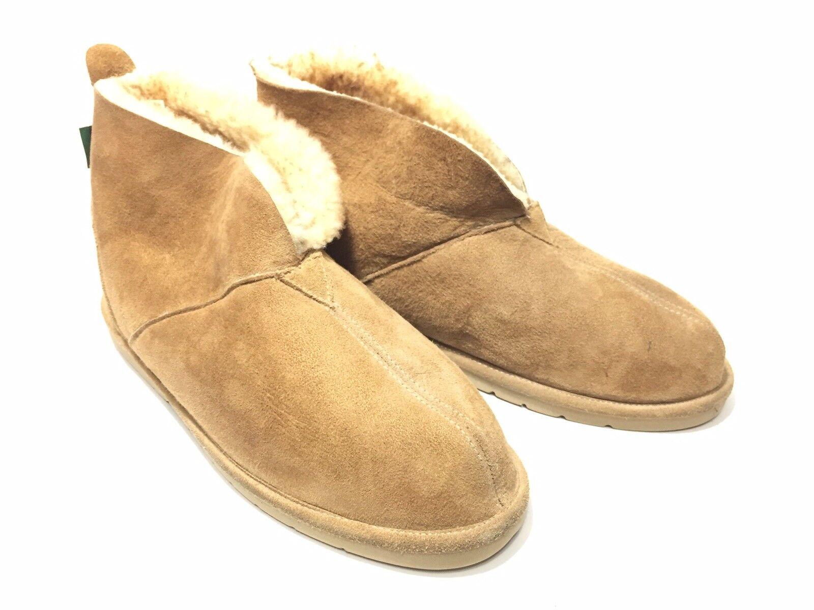 Cabelas Sheepskin Moccasin Slipper Mens 12 M Full Lined Suede Ankle New Zealand