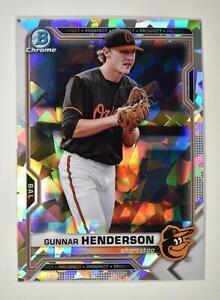 2021 Bowman Prospects Chrome Atomic #BCP-49 Gunnar Henderson - Baltimore Orioles