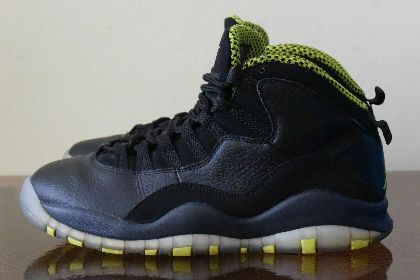 Nike Air Jordan X 10 Retro Black Venom Green-Cool 310805-033 Sz 8.5