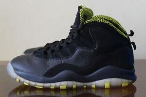 709df6dd14d391 Nike Air Jordan X 10 Retro Black Venom Green-Cool 310805-033 Sz 8.5 ...