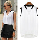 Sexy Women Lady Summer Casual Sleeveless Tank Tee Vest T Shirt Blouse Loose Tops