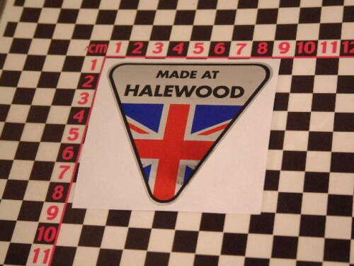 Hecho en Halewood Etiqueta engomada del cromo-Anglia Escort Mk1 Mk2 México RS2000 Harrier