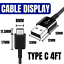miniature 4 - Lot OF 10X USB C Fast Charge Cable Type C Data Sync Cord For Samsung Android LG
