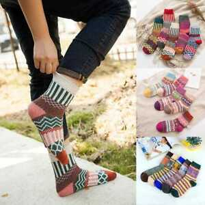 1 Pair Women Wool Cashmere Warm Soft Thick Casual Multicolor Winter-Socks