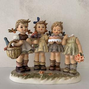 "Goebel Germany Hummel Figurine WE WISH YOU THE BEST  8 1/8"" Damaged!"