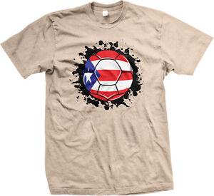 fd168a88681 Puerto Rico Flag Soccer Ball Rican El Huracan Azul Futbol PRI PR ...