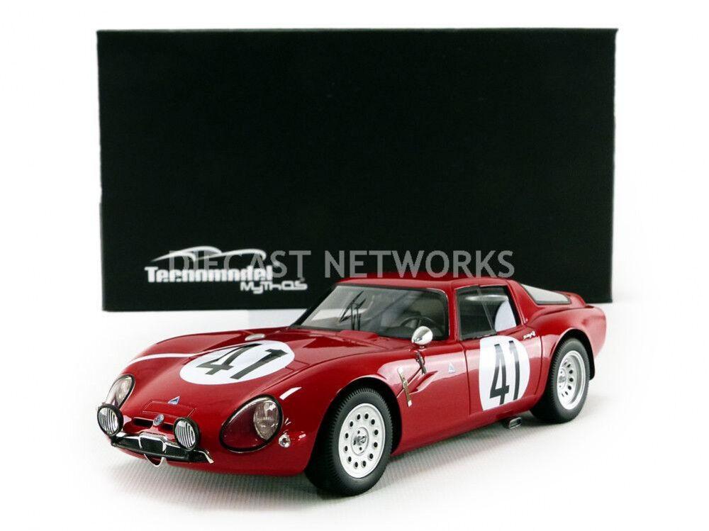 Tecnomodel Alfa Romeo Tz2 24h Le Mans 1965 Bussinello Rolland  18 Le Of 100