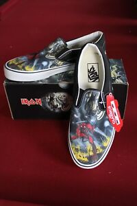 VANS Iron Maiden NUMBER OF THE BEAST New Classic SLIP-ON ... f0bd1eb55