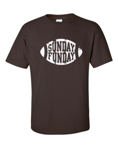 SUNDAY FUNDAY Fantasy Football Beer Tailgate Party Men/'s Tee Shirt 401