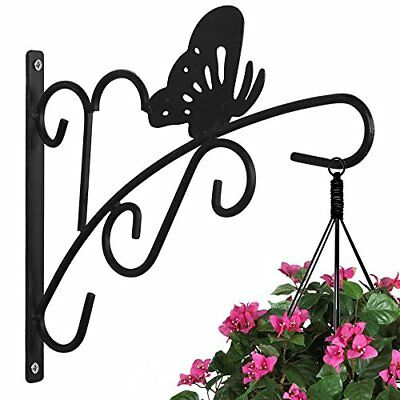 11 Wrought Iron Plant Hanger Hook For Hanging Plants Wall Planter Mount 714367086569 Ebay