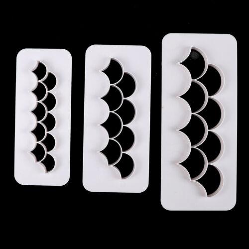 3xFish scale shape fondant cookie cutter fondant mold cakedecorating tools FadSM