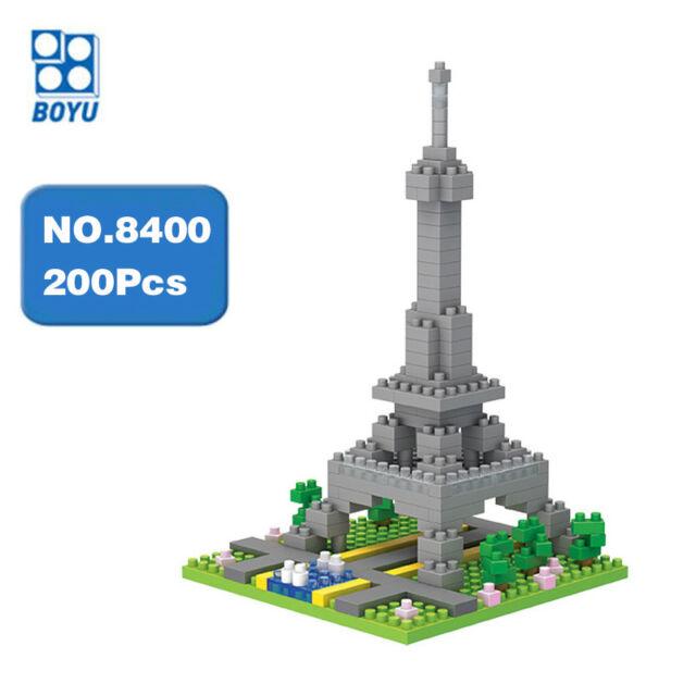 BOYU Architecture Paris Eiffel Tower DIY Diamond Mini Building Nano Blocks Toy