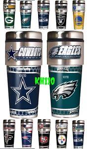 NFL-Team-16oz-Steel-Travel-Tumbler-Coffee-Mug-w-Metallic-Graphics-emblem