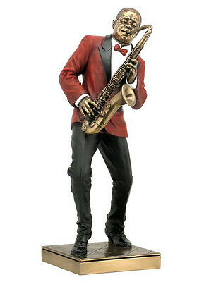Saxophone Player Statue Sculpture Figurine - Jazz Band Collection - HOLIDAY GIFT