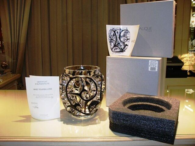 Lalique  Tourbillons  Vase   Vaso Cristallo   Crystal Limited Edition 999 pieces