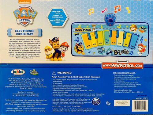Nickelodeon BRAND NEW!!! Paw Patrol Electronic Kids Music Mat Game