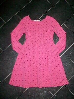H&M Kleid 122/128 Rosa /Pink mit roten Sternchen   eBay