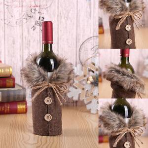 Eg-Joyeux-Noel-Vin-Bouteille-Sac-Housse-Manteau-Noel-Diner-Table-Decor-Fas