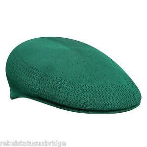 b14dc8d27d8 KANGOL Hat 504 Tropic Ventair Flat Summer Cap 0290BC Masters Green S - XL