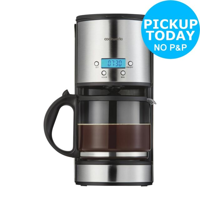 Cookworks Coffee Maker With Timer Stainless Steel