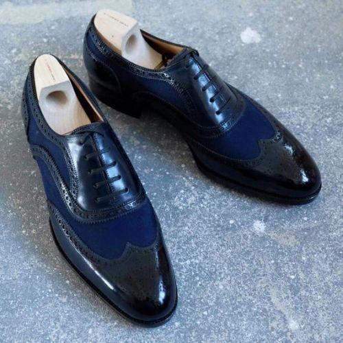 Homme Nouveau Fait Main Cuir Véritable Chaussures Oxford Design Formal chaussures