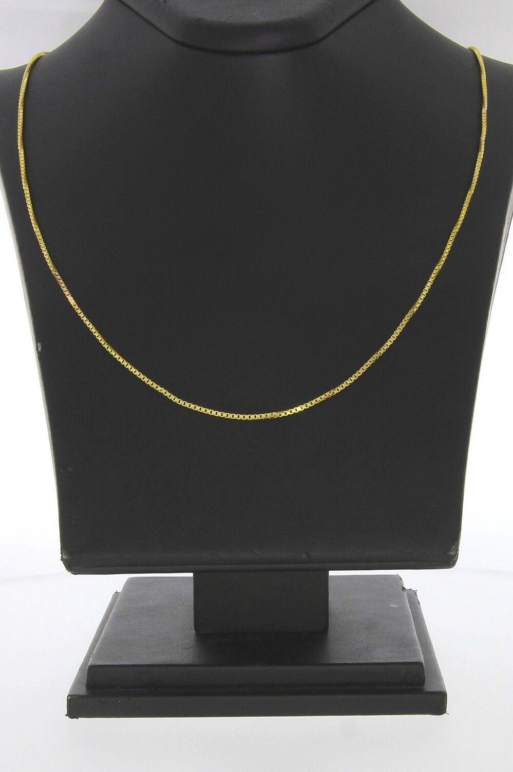 9676-333er yellowgold Kette Lang 56 cm Breit 1,31 mm Gewicht 4,1 Gramm