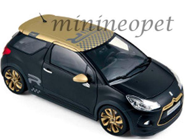 Norev 181547 2013 Citroen Ds3 Racing 1 18 Diecast Model Coche Negro Mate W oro