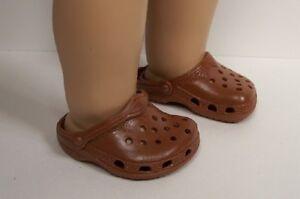 5bbc41b3d04304 BROWN Kroc Duc Sandal Clogs Doll Shoes For 18