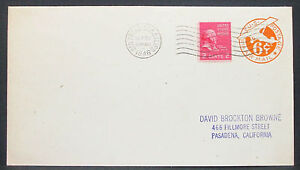 US-Postal-History-Stationery-Airmail-Cover-GS-Rnd-USA-Airmail-Letter-H-10844