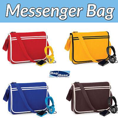 Bag Base Borsa A Tracolla Messenger/scuola/lavoro Che Scegli Colore-gratis P&p-