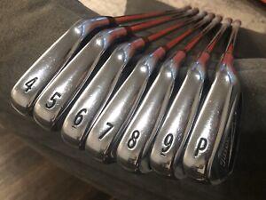 Titleist-716-AP2-4-PW-Stiff-RH-Irons-0-25-Short-MCC-4-Midsize-Align-Grips