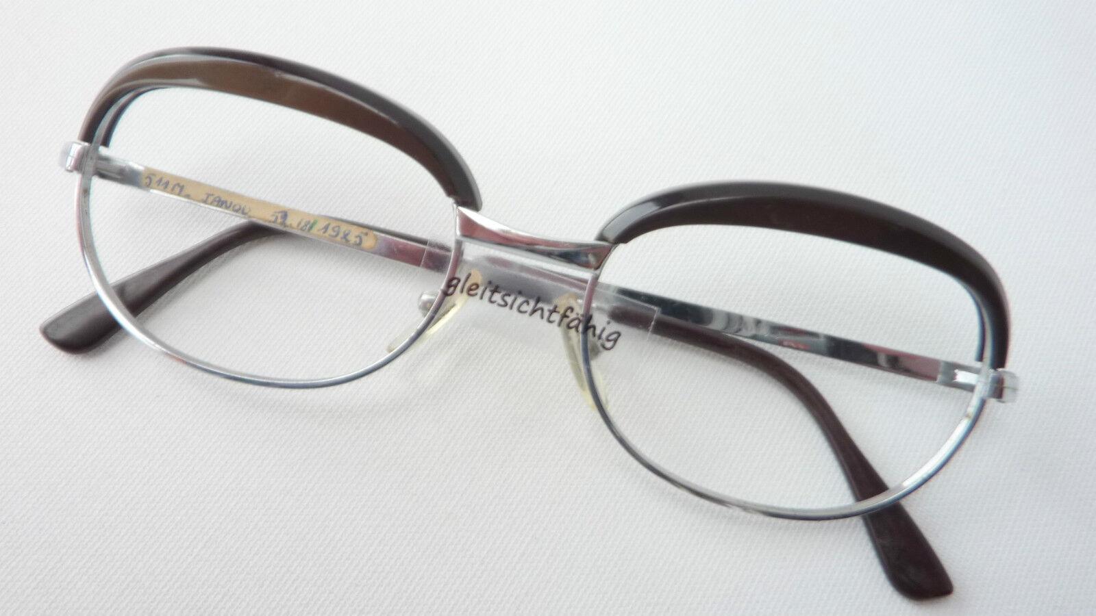 Brillenfassung Metall mit Kunststoffoberrand 50er Oma-Brille für Damen Grösse M   Ausgewählte Materialien    Creative    Geeignet für Farbe