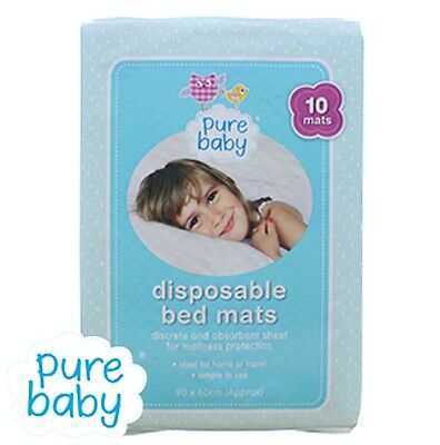 Baby Flight Tracker Pure Baby X10 Disposable Bed Mats Training Sheets Absorbent Travel /home 90x60cm Strengthening Waist And Sinews