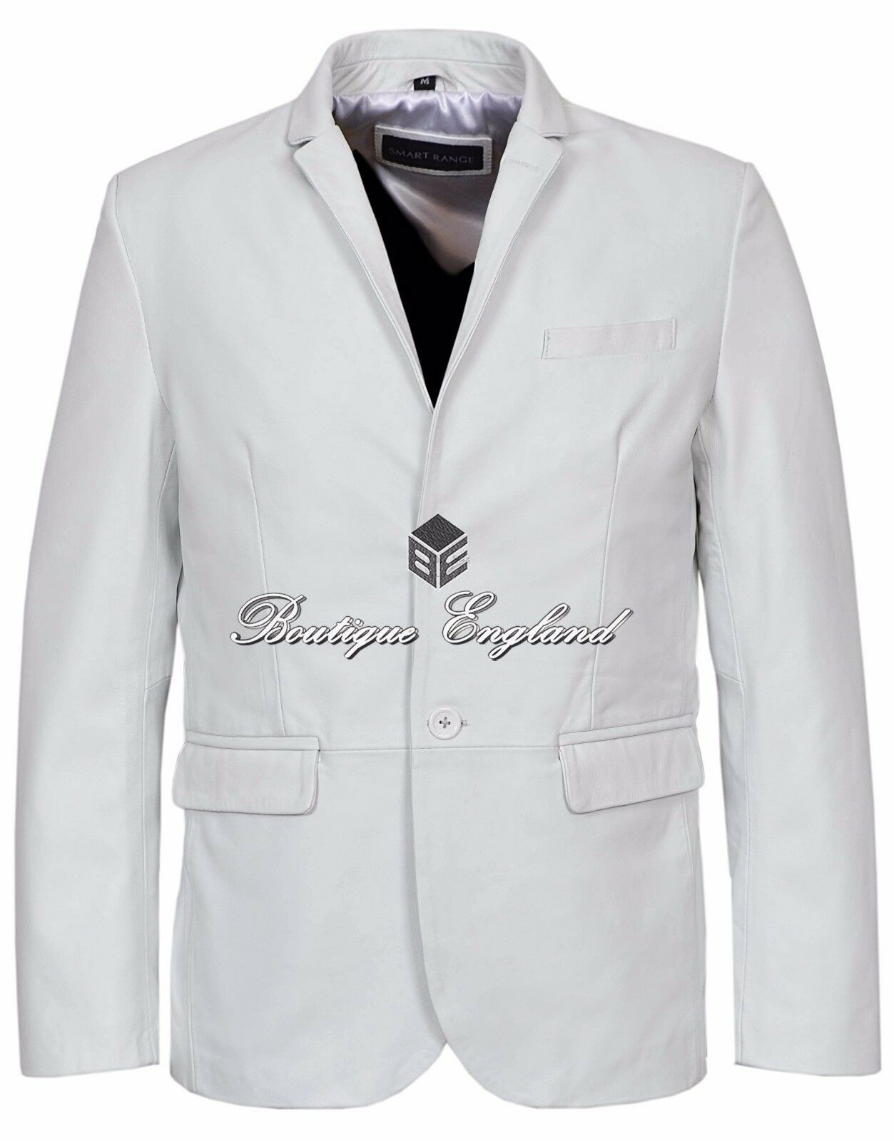 Mens Leather BLAZER White Classic ITALIAN Tailored Soft REAL LEATHER 3450
