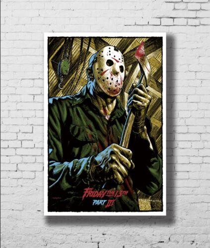Jason Friday The 13th Horror Movie Film New Print Poster 18 24x36 27x40 P-17