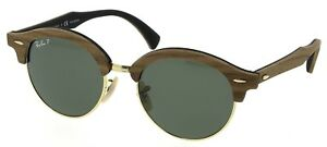 4b2cf63cd6 Image is loading RAY-BAN-CLUBROUND-WOOD-SPECIAL-EDITION-SUNGLASSES-POLARIZED -