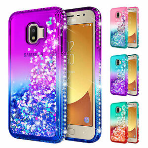 cheap for discount a40ac 4427d Details about Samsung Galaxy J2 Core / J2 2019 Case | Liquid Glitter Bling  Cute Phone Cover