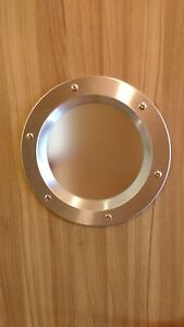 PORTHOLE-SAFETY-GLASS-VISION-PANELS-FOR-DOORS-phi-350-mm-STAINLESS-STEEL-New
