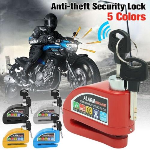 Details about  /Motorbike Anti-theft Alarm Wheel Disc Brake Security Security Reminder Rope+Bag/'