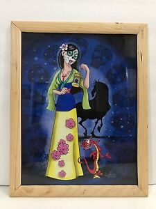 MULAN-MEETS-DAY-OF-THE-DEAD-MULAN-FRAME-PRINT-BY-Sandra-Caravalho-NEW