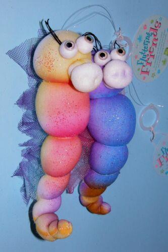 Russ Berrie Fluttering Friends soft bodied hanging decor seahorse set Summer