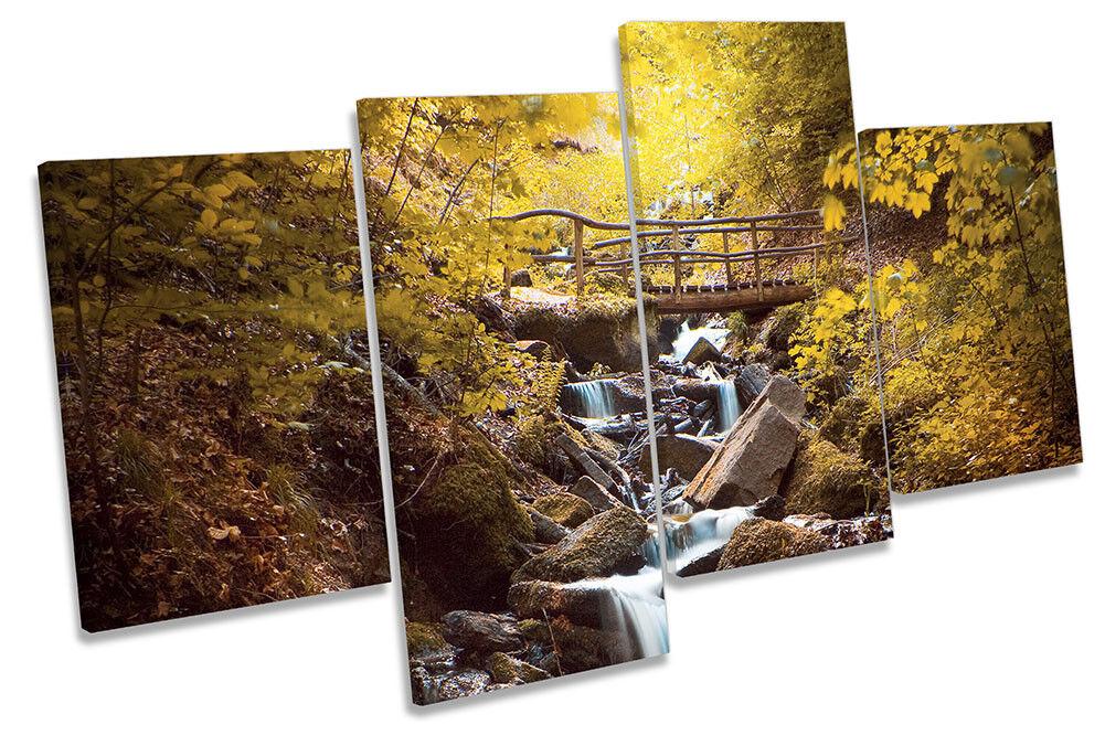 Forest River Grün Bridge Picture MULTI CANVAS WALL ART Print