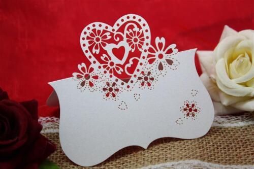 20 Stück Platzkarten Herz HochzeitTisch-Deko Tischkarte Hochzeit Dekoration
