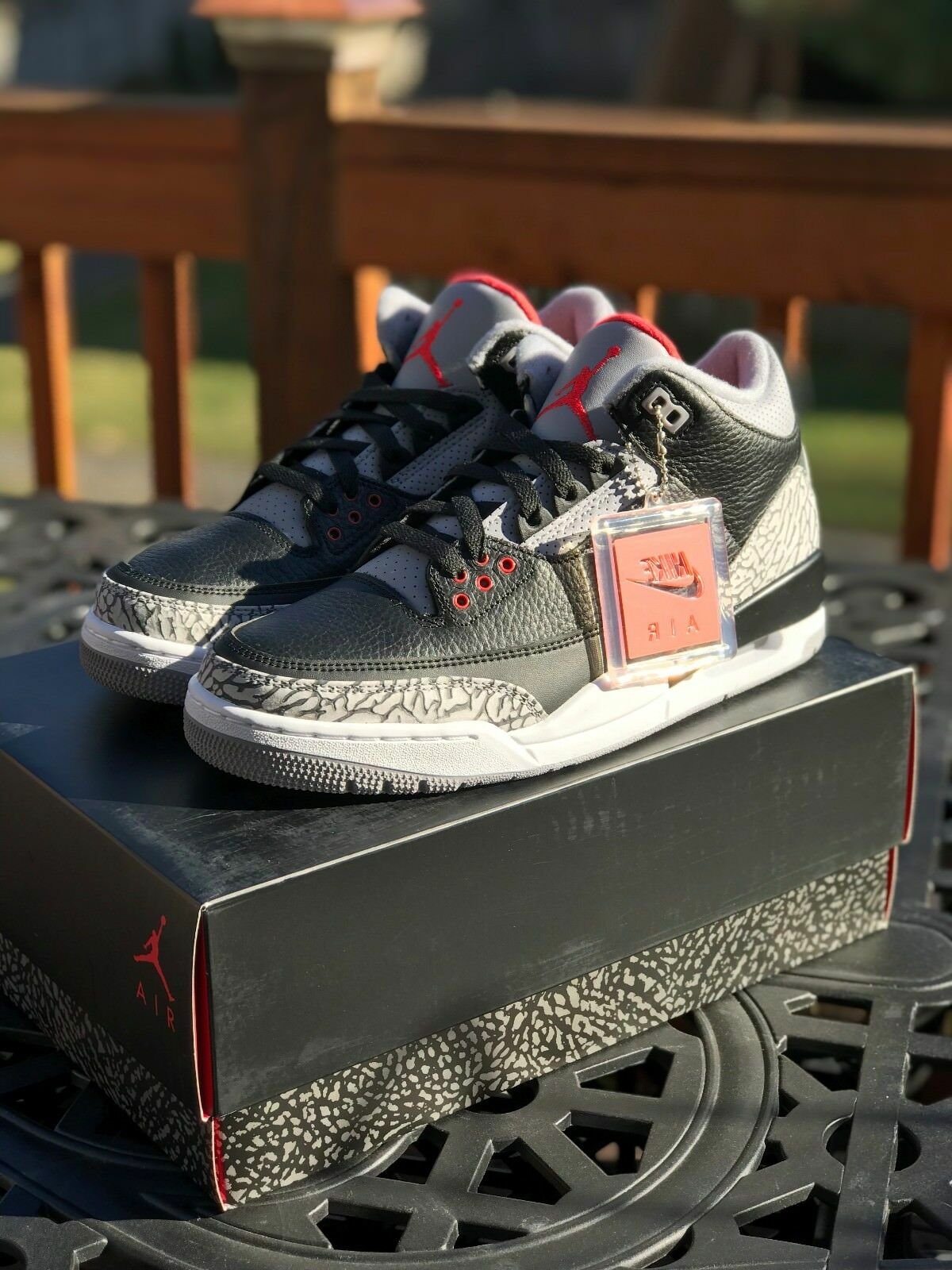Nike Air Jordan 3 Black Cement Retro III OG