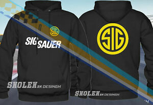 SIG Manufacture Firearms Sig Sauer Logo Classic Black Hoodie S-5XL