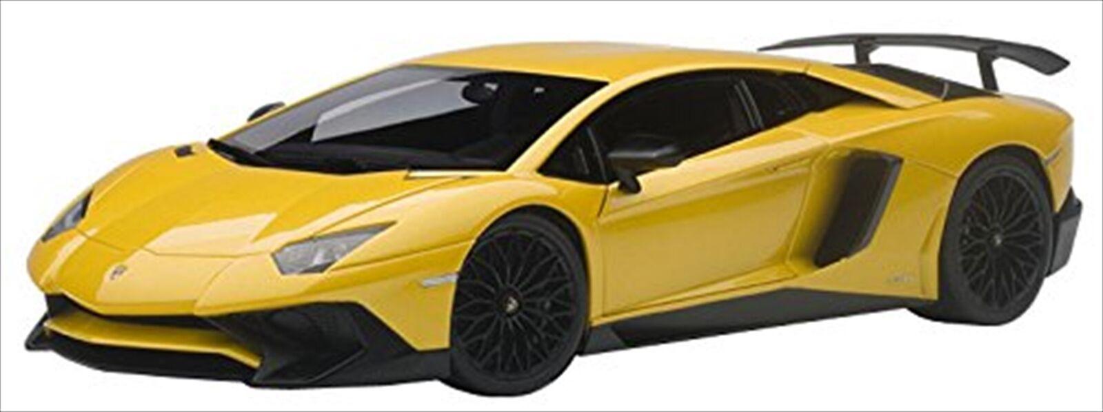 Autoart 1 18 Lamborghini Aventador LP750-4 SV Metálico Amarillo 74558