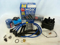 Tune-up Kit Cap Rotor Ngk Wires-spark Plug Pcv 94-97 Honda Accord Ex F22b1