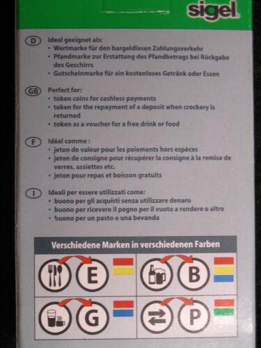 """aus Kunststoff sigel Wertmarken Nr.WM 006  /""""Getränke/"""" Neu"""