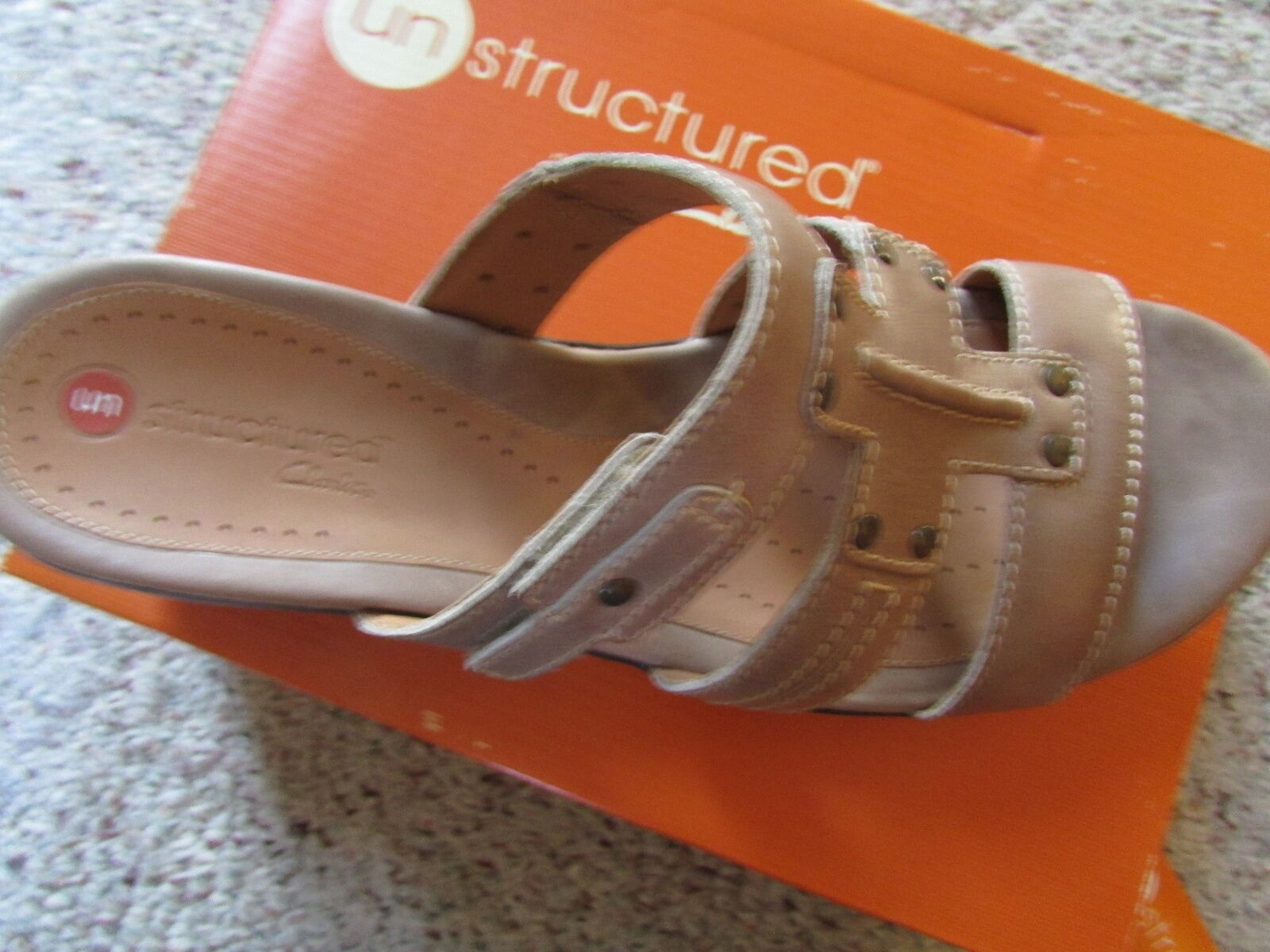 NEW CLARKS UNJUDGE TAUPE SANDALS WOMENS 12 UNSTRUCTURED MSRP    110 ea0f6e